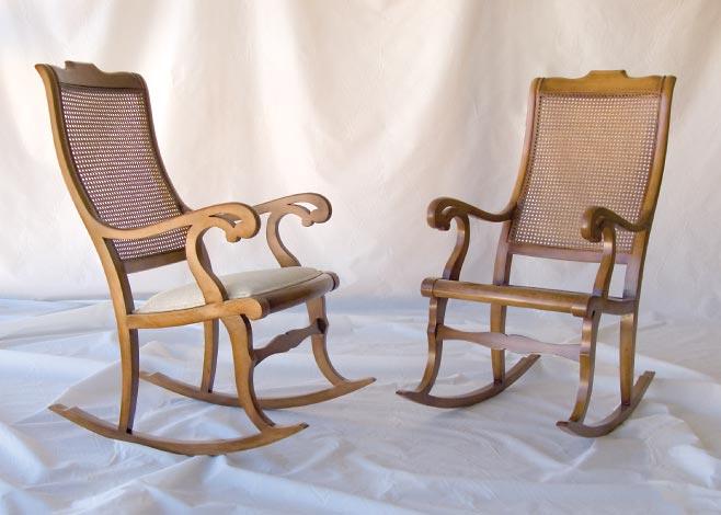 Mecedora orleans asiento tapizado el taller del mueble - Escabeles tapizados ...