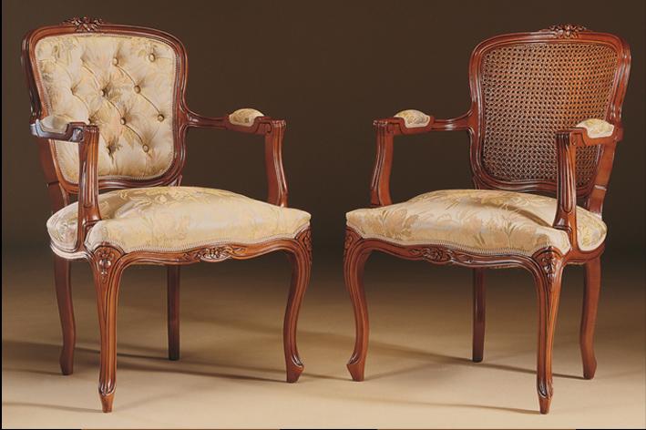 Sill n luis xv el taller del mueble - Escabeles tapizados ...