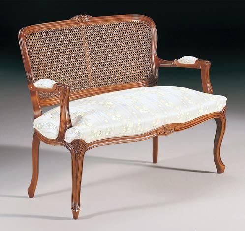 Sofa luis xv r r el taller del mueble - Escabeles tapizados ...
